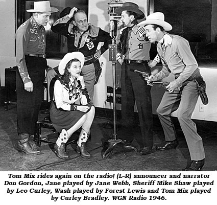 Tom Mix rides again on the radio!