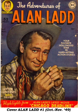 Cover to ALAN LADD #1 (Oct.-Nov. '49).