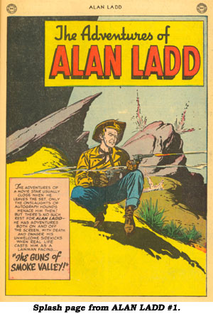 Splash page from ALAN LADD #1.