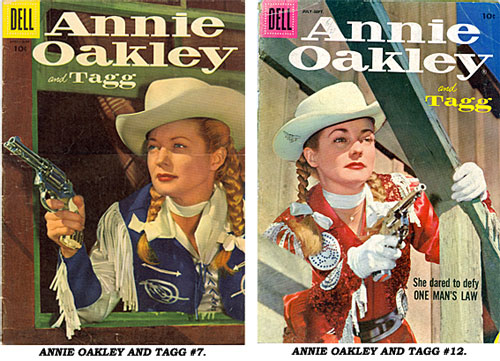 Covers to ANNIE OAKLEY AND TAGG #7 and #12.