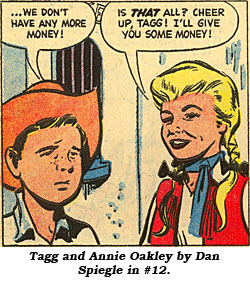Tagg and Annie Oakley by Dan Spiegle in #12.