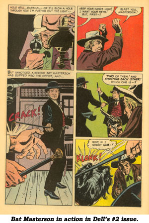 Action page from BAT MASTERSON #2.