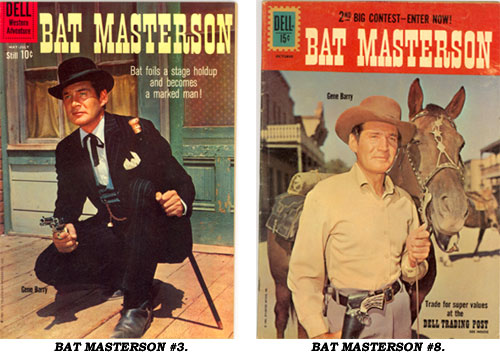 Covers to BAT MASTERSON #3 and BAT MASTERSON #8.