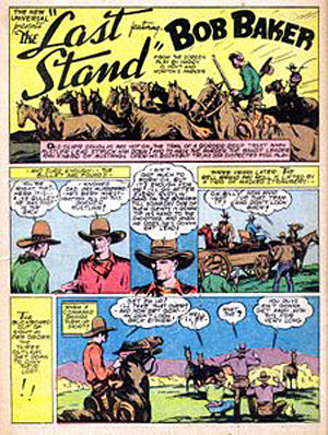 """The Last Stand"" appeared in FUNNIES #27 (Dec. '38)."