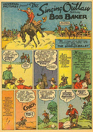 """The Singing Outlaw"" was in FUNNIES #24 (Sept. '38)."