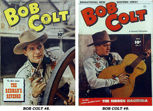 Covers to BOB COLT #8 and #9.