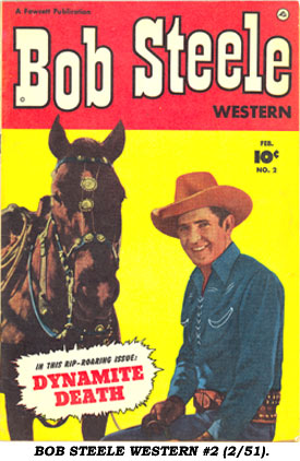 Cover to BOB STEELE WESTERN #2 (2/51).
