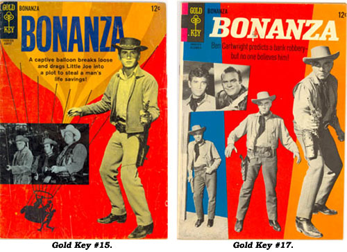 Covers to BONANZA Gold Key #15 and #17.