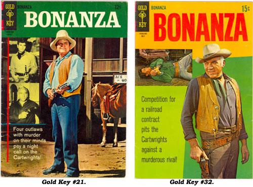 Covers to BONANZA Gold Key #21 and #32.