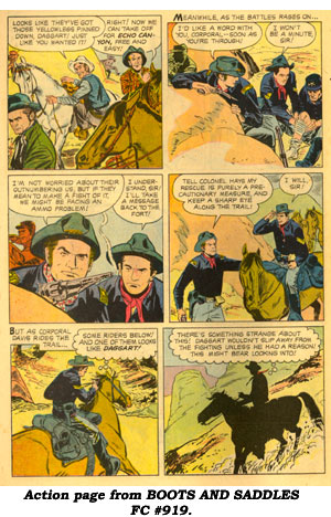 Action page from BOOTS AND SADDLES FC #919.