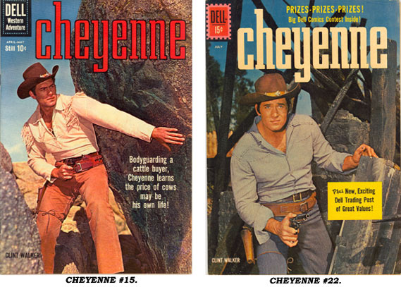 Covers to CHEYENNE #15 and #22.