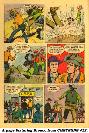 A page featuring Bronco from CHEYENNE #12.