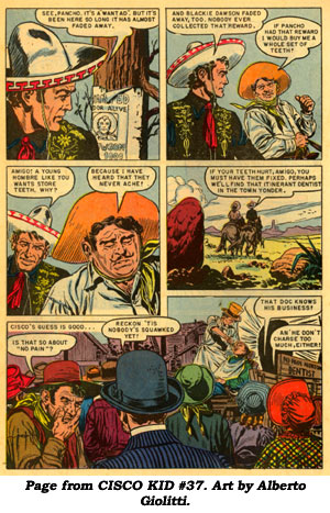 Page From CISCO KID 37 Art By Alberto Giolitti