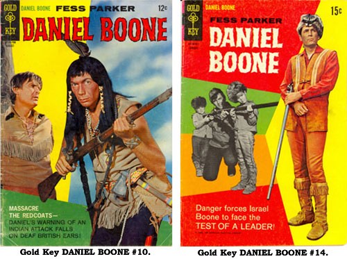 Covers to Gold Key DANIEL BOONE #10 and #14.