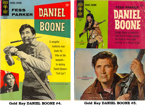 Covers to Gold Key DANIEL BOONE #4 and #5.