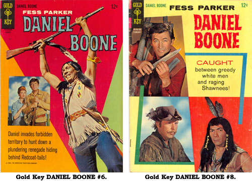 Covers to Gold Key DANIEL BOONE #6 and #8.
