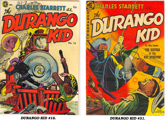 Covers to DURANGO KID #16 and #31.