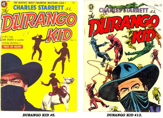 Covers for DURANGO KID #5 and #13.