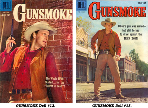 Covers to GUNSMOKE #12 and #13.