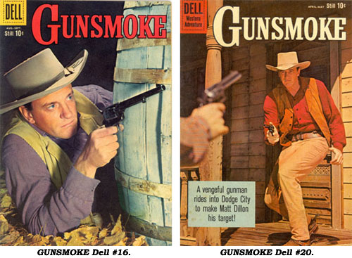 Covers to GUNSMOKE #16 and #20.