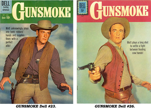Covers to GUNSMOKE #23 and #26.