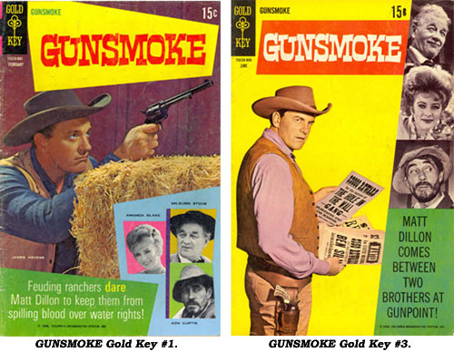 Covers to Gold Key GUNSMOKE #1 and #3.