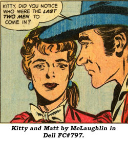 Kitty and Matt by McLaughlin in Dell FC#797.