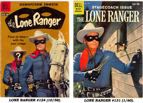 LONE RANGER #124 (10/58) and #131 (1/60).