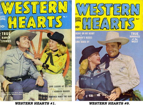 Covers to WESTERN HEARTS #1 and #9.