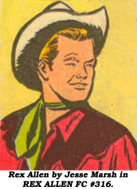 Rex Allen by Jesse Marsh in REX ALLEN #FC 316.