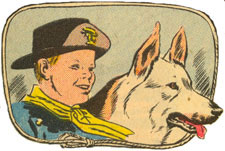 Rusty and Rin Tin Tin.