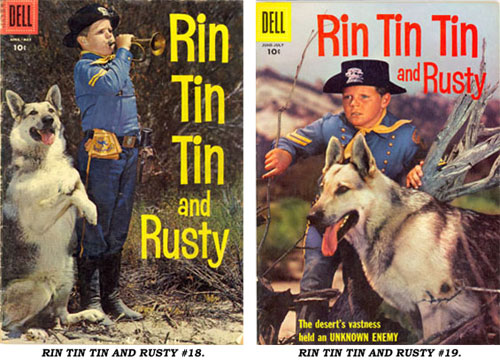 Covers to RIN TIN TIN AND RUSTY #18 and #19.