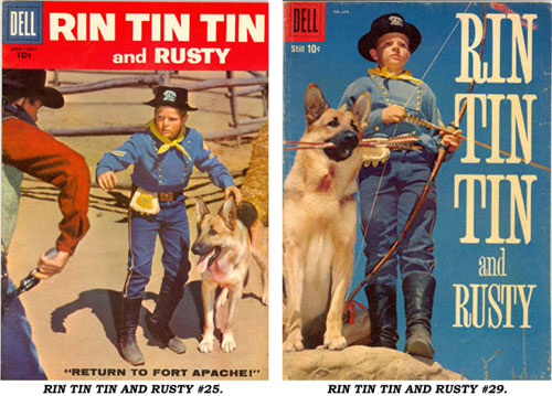 Covers to RIN TIN TIN AND RUSTY #25 and #29.