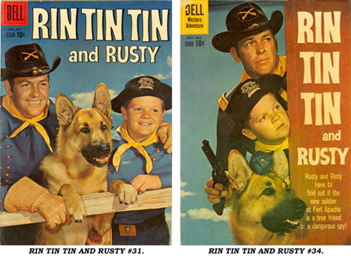 Covers to RIN TIN TIN AND RUSTY #31 and #34.