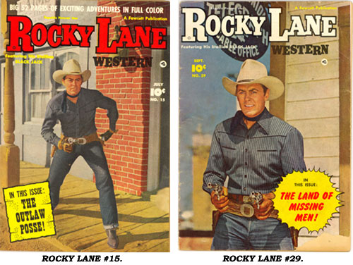 Covers to ROCKY LANE WESTERN #15 AND #29.