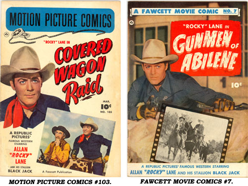 Covers to MOTION PICTION COMICS #103 AND FAWCETT MOVIE COMICS #7.