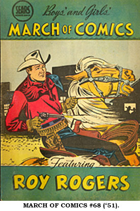 MARCH OF COMICS #68 ('51) featuring Roy Rogers.