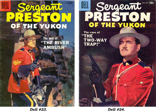 Covers to Sergeant Preston of the Yukon #23 and #24.