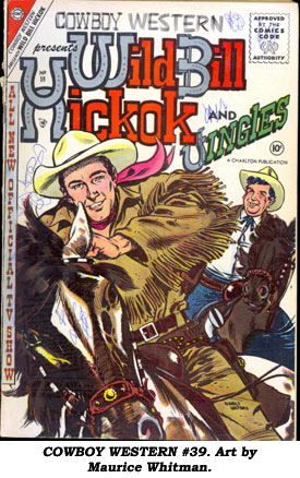 COWBOY WESTERN #39. Art by Maurice Whitman.