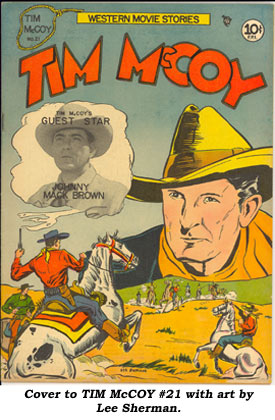 Cover to TIM McCOY #21 with art by Lee Sherman.