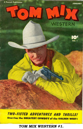 TOM MIX WESTERN #1 cover.