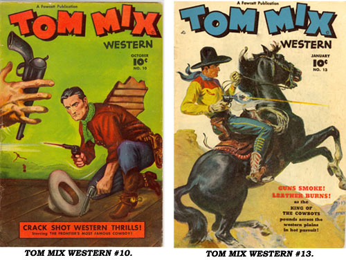 Covers to TOM MIX WESTERN #10 and #13.