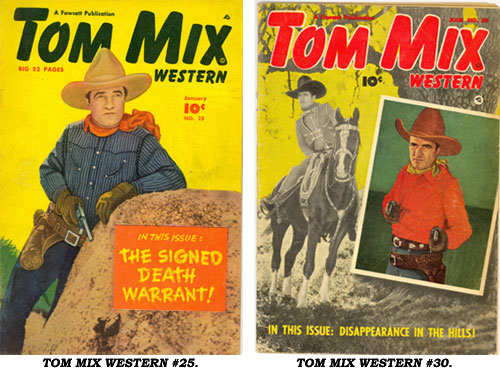 Covers to TOM MIX WESTERN #25 and #30.