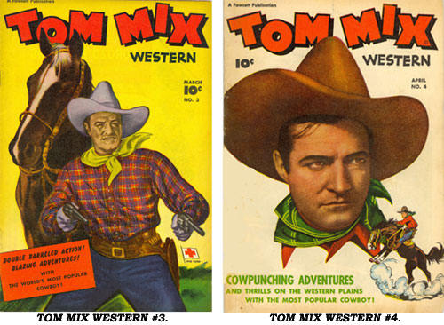 Covers to TOM MIX WESTERN #3 and #4.