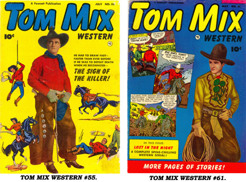 Covers to TOM MIX WESTERN #55 and #61.