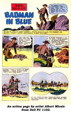 An Action page by artist Albert Micale from Dell FC 1102.