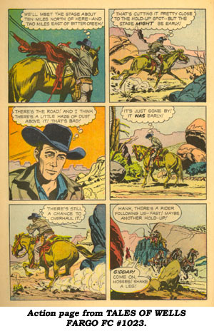 Action page from TALES OF WELLS FARGO FC#968.