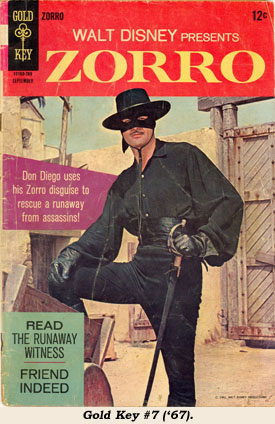 Cover to ZORRO Gold Key #7 ('67).