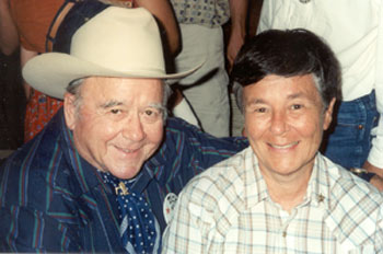 Dick Jones and Nancy Gilbert at Tombstone Festival in 2001.