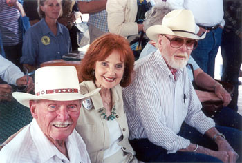 Earl Bellamy, Mary Ellen Kay and Harry Carey Jr. at Tombstone Film Festival in 2001.